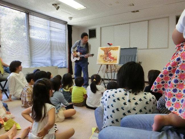 鎌倉文学館での小森創介さん公演の様子です